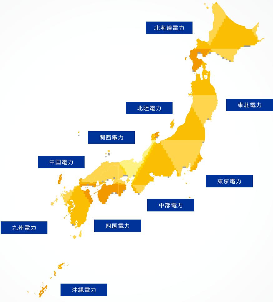 日本全国10エリアでご提案可能